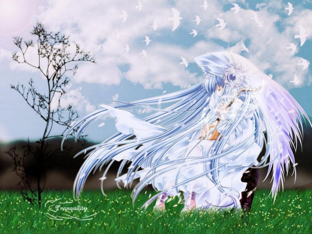 Картинки аниме девушки с голубыми глазами и коричневыми волосами 19