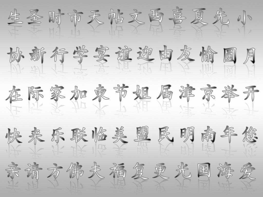Китайские иероглифы - обои