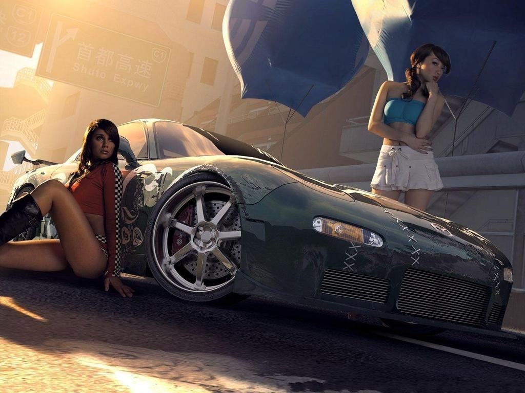 Фото девушек возле машины