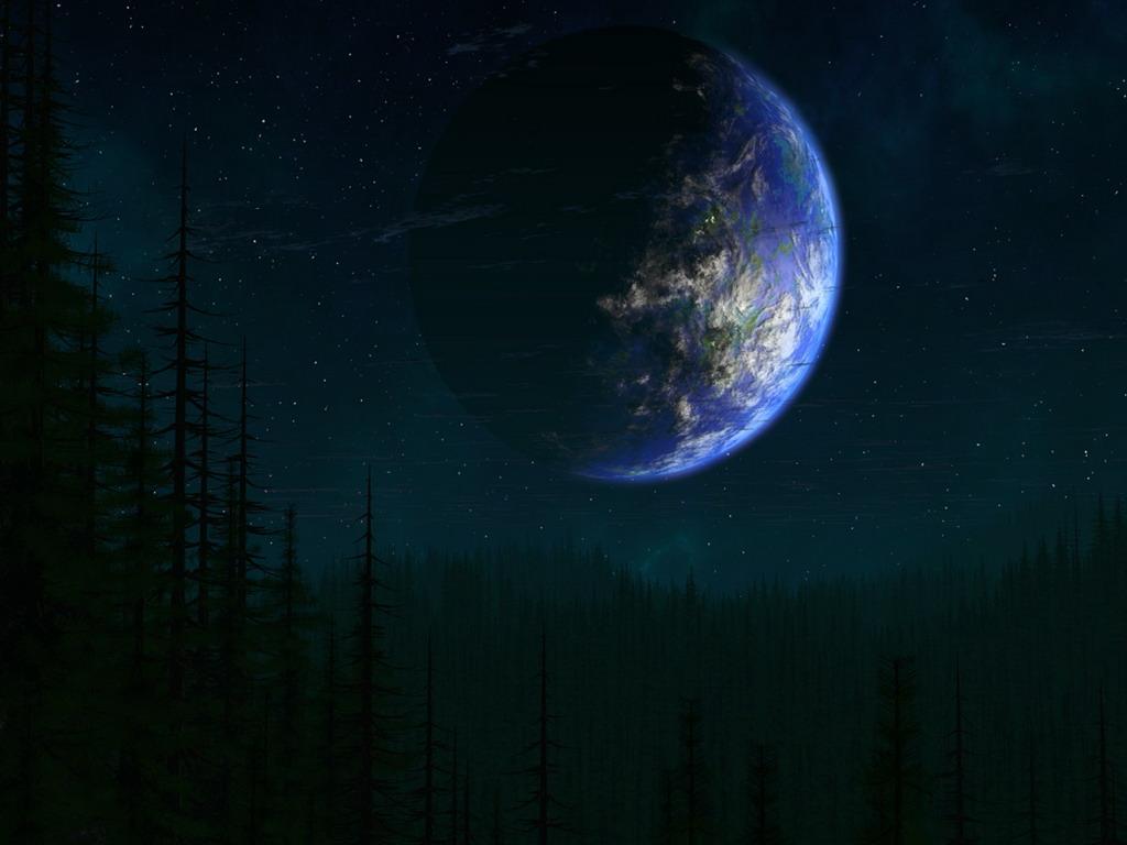 Earth screensaver hd - очень красивая, информативная, трехмерная заставка, отображающая изображение нашей планеты с