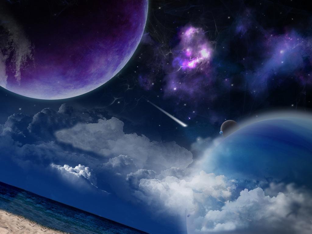 Звездное небо взгляд из космоса - обои