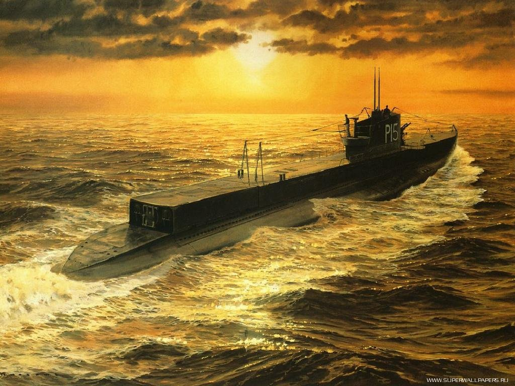 купить фотообои с подводной лодкой