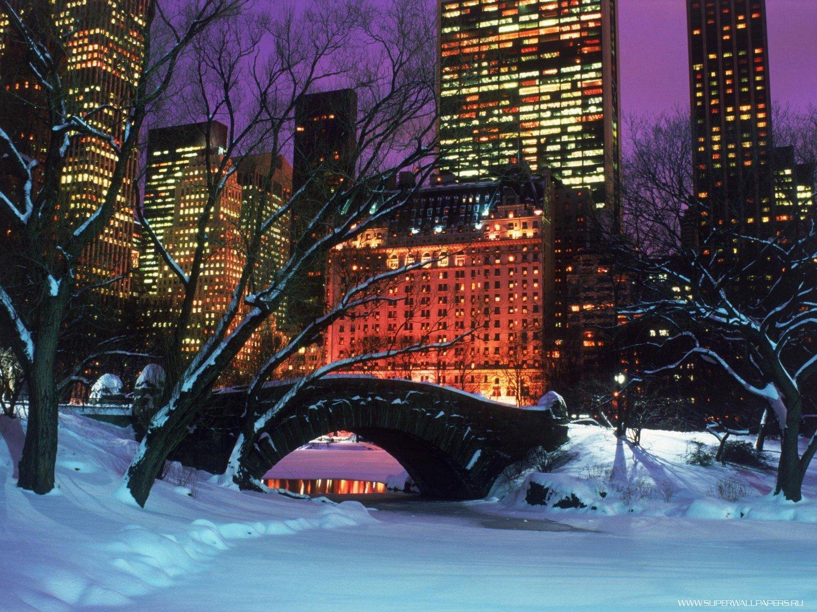Центральный парк зимой - Нью -Йорк обои
