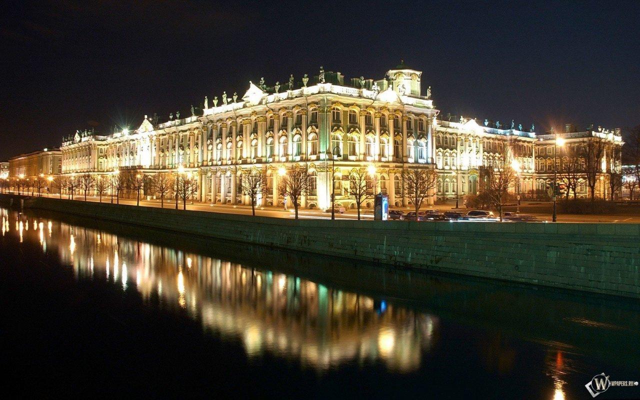 Ночной город Санкт-Петербург обои