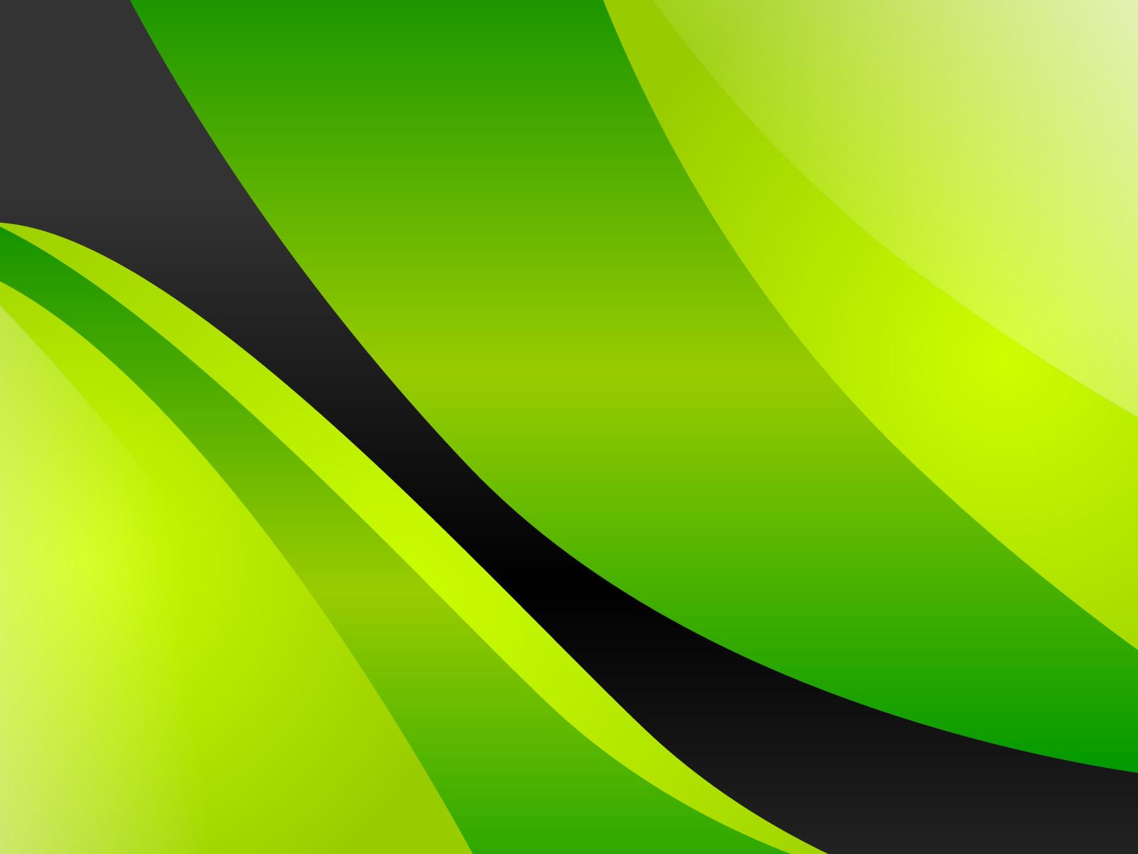 Черный и зеленый - большие обои