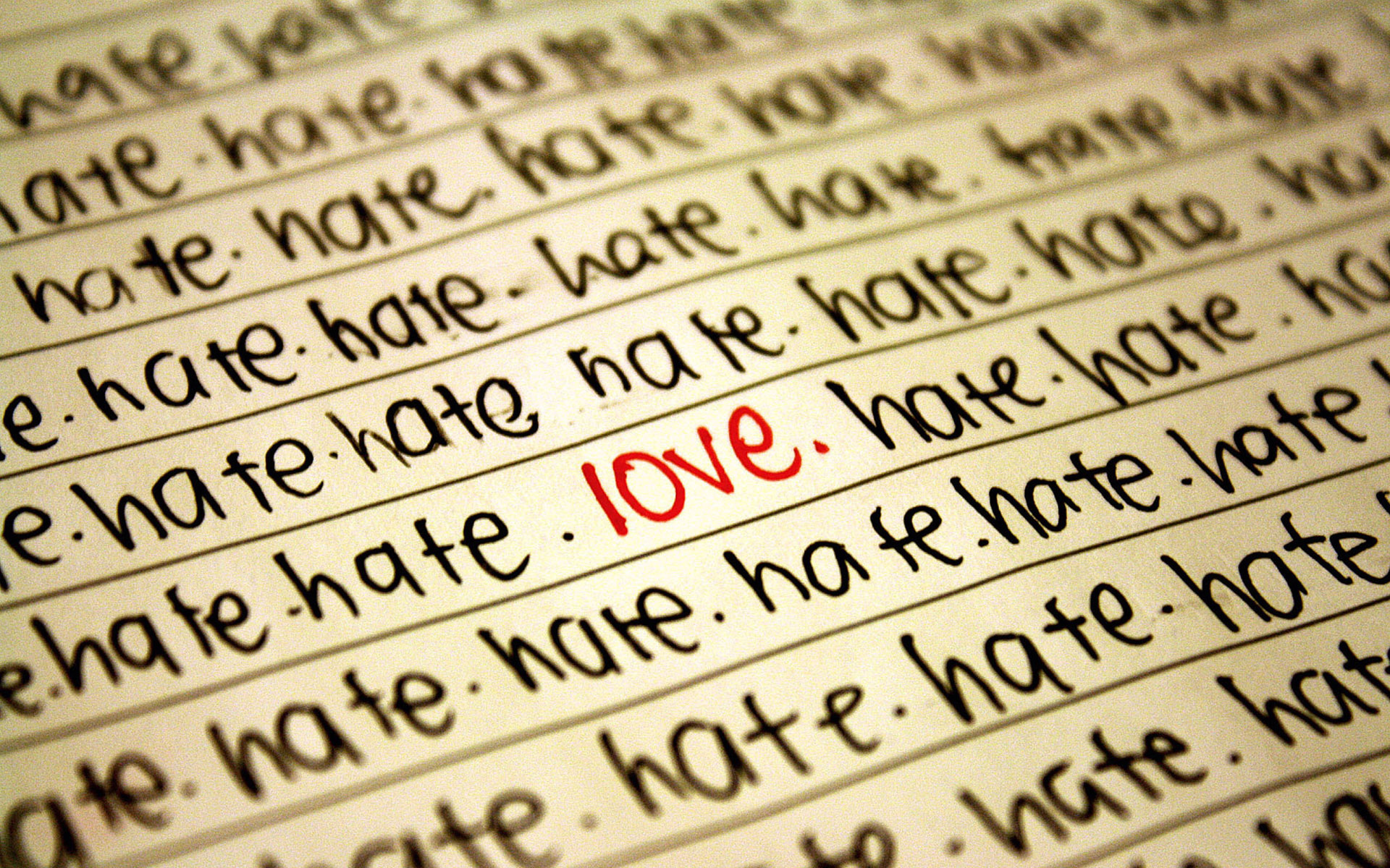 Любовь и ненависть - красивые обои