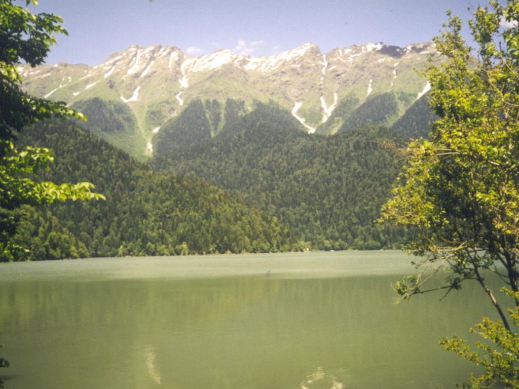 Озеро Рица, Абхазия обои