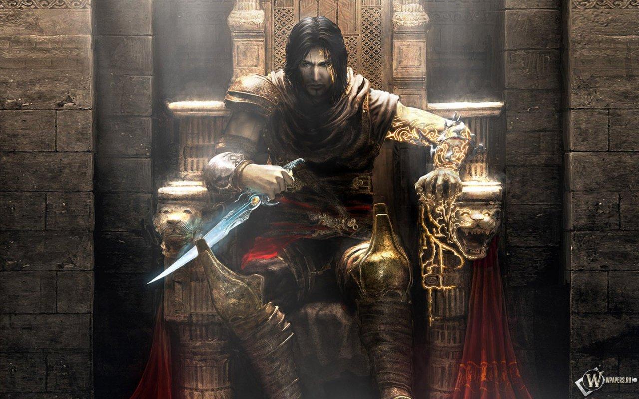 Принц персии на троне обои