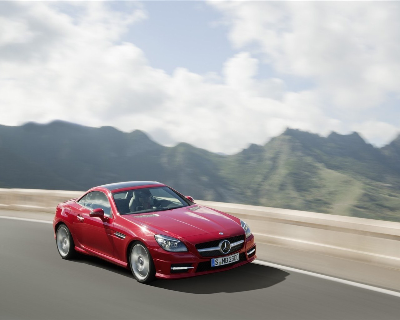 Mercedes-Benz, SLK Roadster, 2012 обои