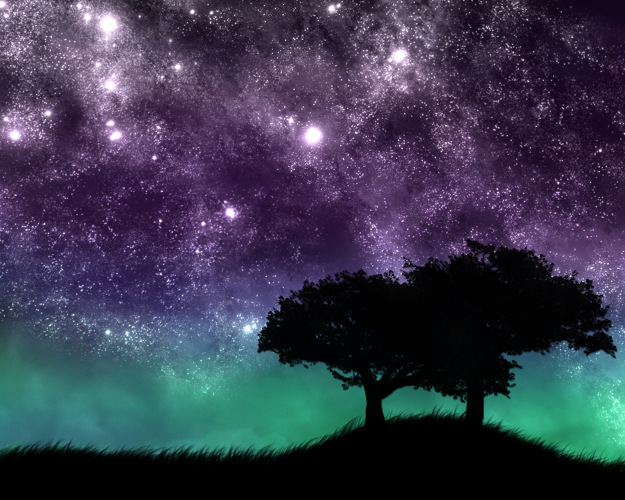 Звездное небо 3d обои