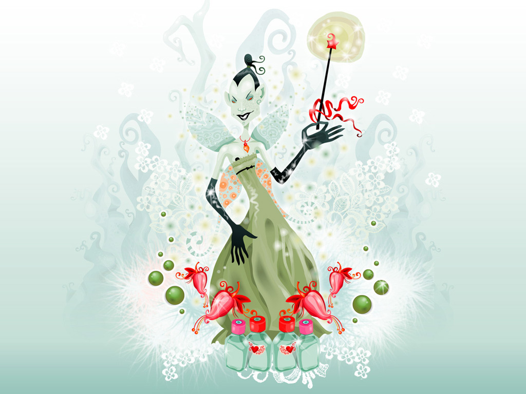 Green Fairy of Absent 3d обои