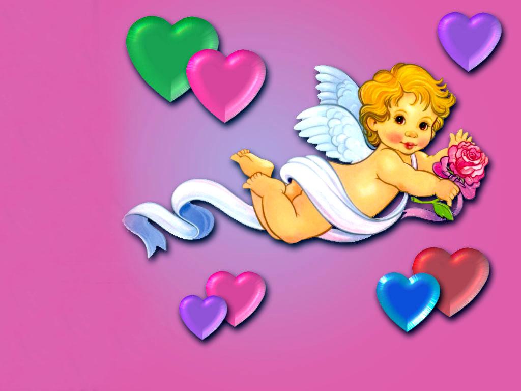 На крыльях любви обои