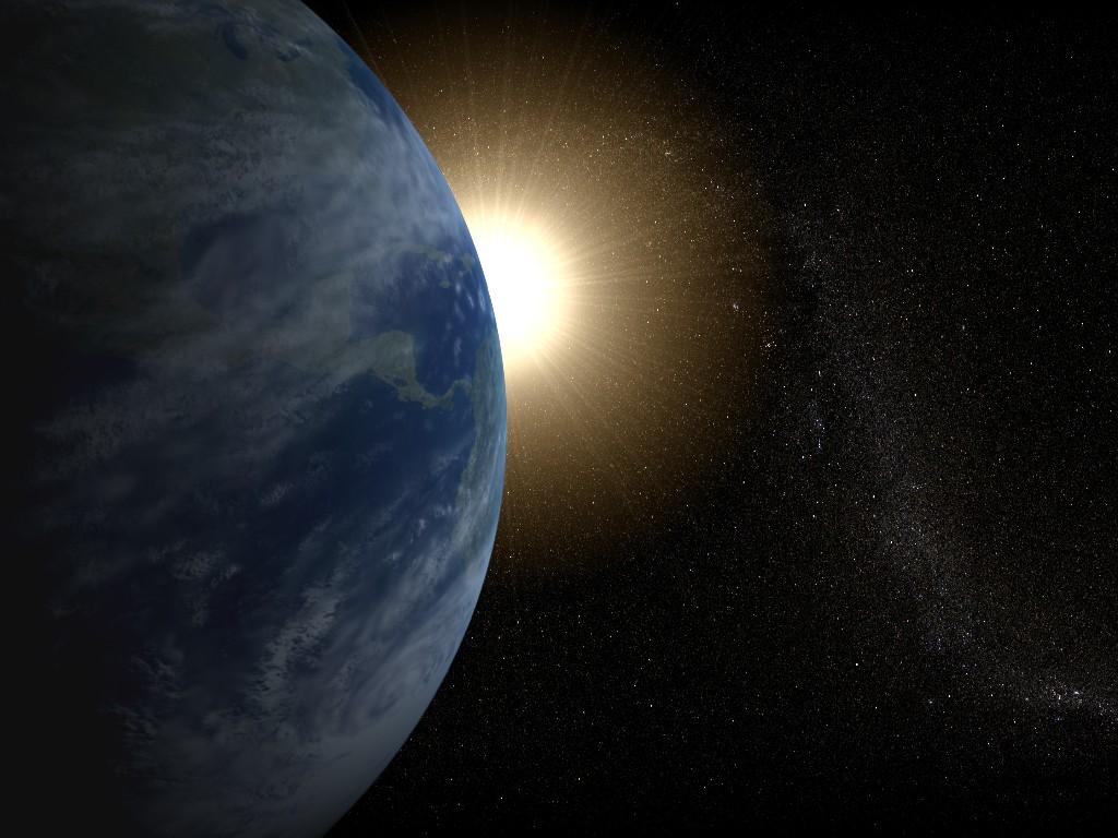Земля и Солнце обои