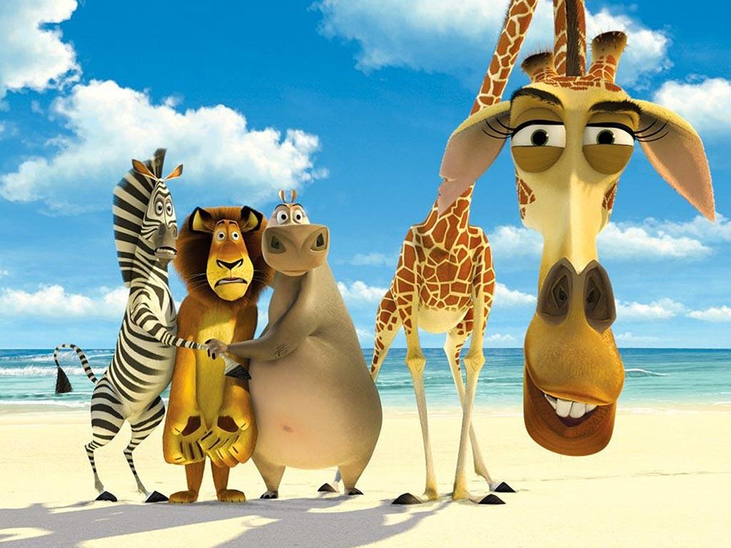 Главные герои мультика Мадагаскар - обои