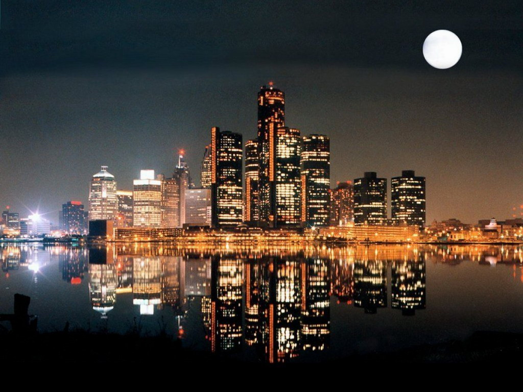Фото ночной город высокого разрешения