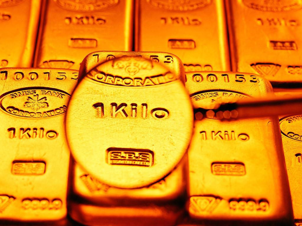 Килограммовый слиток золота обои
