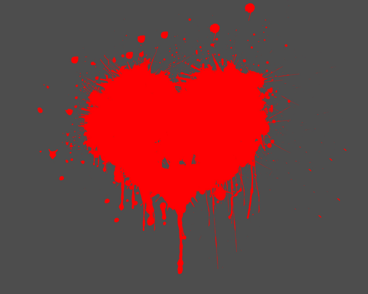 Размазанное сердце обои