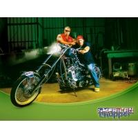 В гараже american Chopper - широкоформатные обои и большие картинки, тема - авто и мото