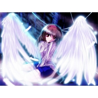 Японский ангел - обои и картинки для компьютера, обои аниме