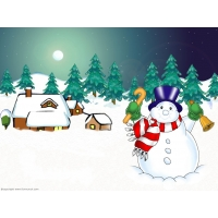 Снеговики обои (9 шт.)