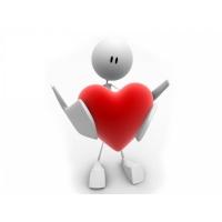 Человечек с сердцем картинки скачать бесплатно на комп