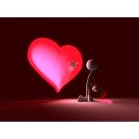 Нарисованное сердечко маленьким человечком скачать картинки бесплатные для компа