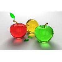 3D стеклянные яблоки, картинки на рабочий стол и обои