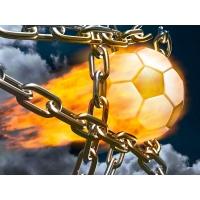 футбольный мяч,рвущий цепи.., картинки и обои, изменить рабочий стол