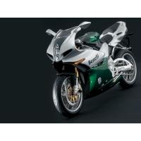 Серебристо-зелёный мотоцикл Benelli, картинки и обои рабочего стола скачать бесплатно
