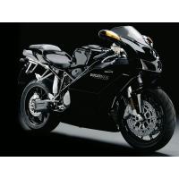 Чёрный хромированный и блестящим спортивный байк Ducati 999, красивые обои и фото установить на рабочий стол