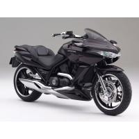 Чёрный мотоцикл Honda на сером фоне, картинки и оформление рабочего стола windows