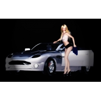 девушка и авто, обои для большого рабочего стола и картинки