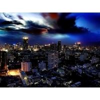 огни ночного города, обои и картинки на красивый рабочий стол