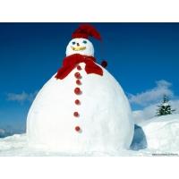 Снеговики обои (2 шт.)