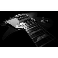 Черно-белая гитара картинки, большие обои и картинки для рабочего стола