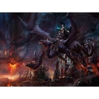 Злой дракон и воительница картинки, картинки, обои на рабочий стол широкоформатный