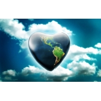 Земля-сердце / Earth Heart картинки, широкоформатные обои и большие картинки