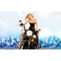 На мотоцикле обои (3 шт.)