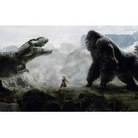 Схватка с динозавром - фото на рабочий стол и картинки