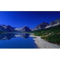 Голубизна горного озера - скачать обои, гламурный рабочий стол