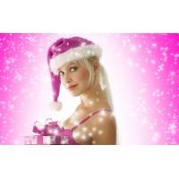 Снегурочка с подарком - обои и картинки на красивый рабочий стол