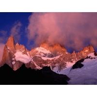 Вечерние облака в заснеженных горах - картинки и красивые обои, изменение рабочего стола