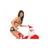Девушка и Санта - картинки и обои бесплатно