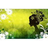 Девушка на светло-зеленом фоне - картинки, заставки рабочего стола скачать бесплатно