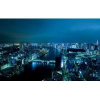 Ночной город с высоты - бесплатные картинки на рабочий стол и обои