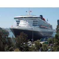 Круизный лайнер Queen Mary - скачать картинки на комп и обои для рабочего стола