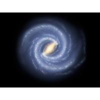 Голубая спираль в космосе - широкоформатные обои и большие картинки
