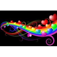 Радужная любовь - скачать картинки и рисунки для рабочего стола