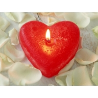 Свеча сердце - картинки и оформление рабочего стола windows