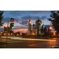 Вечерний Омск бесплатные обои и картинки